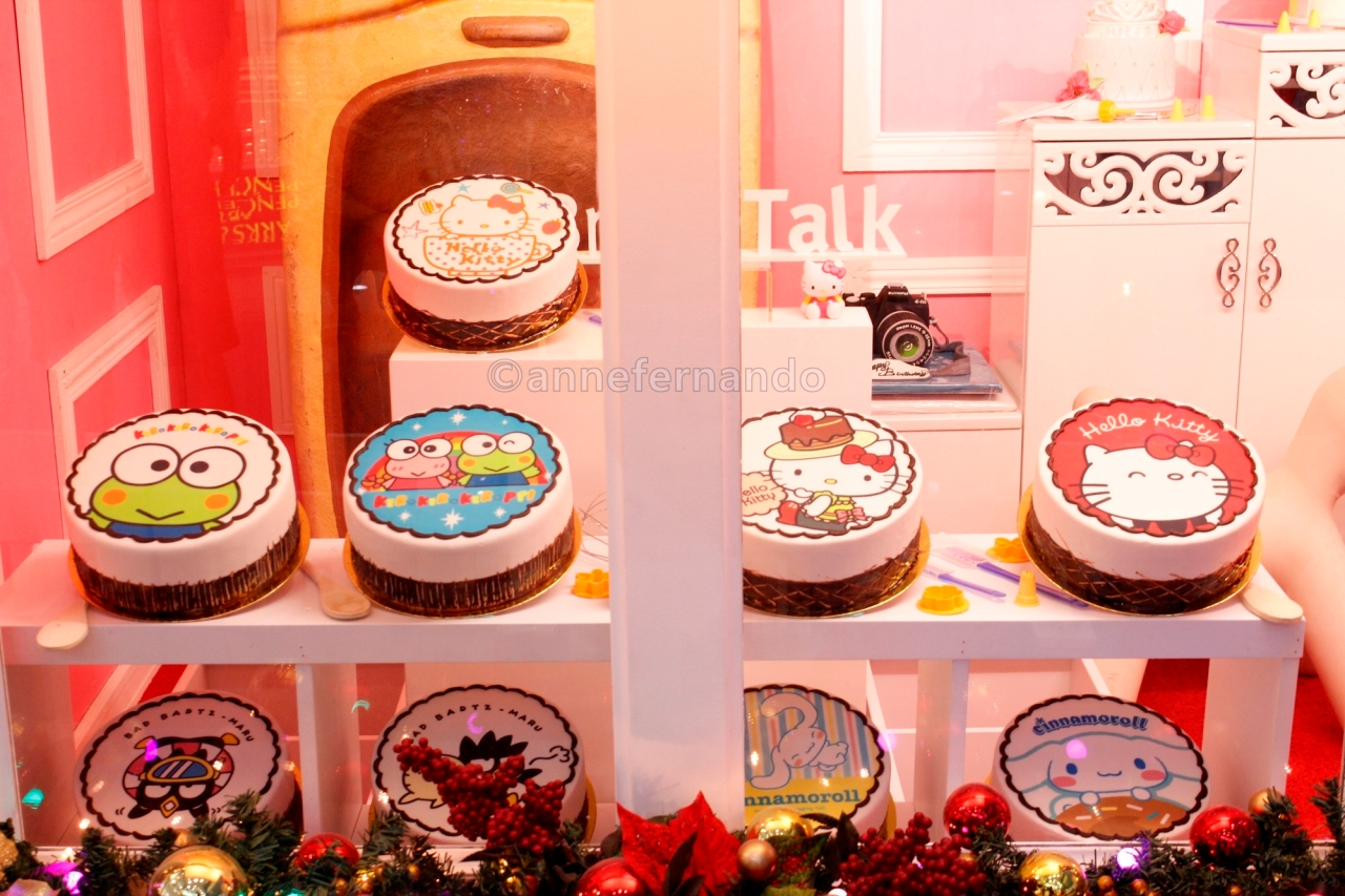 Sanrio character cakes courtesy of BreadTalk