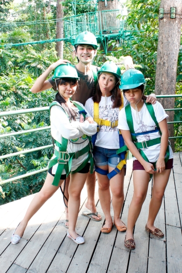 All geared up for the canopy ride and canopy walk!