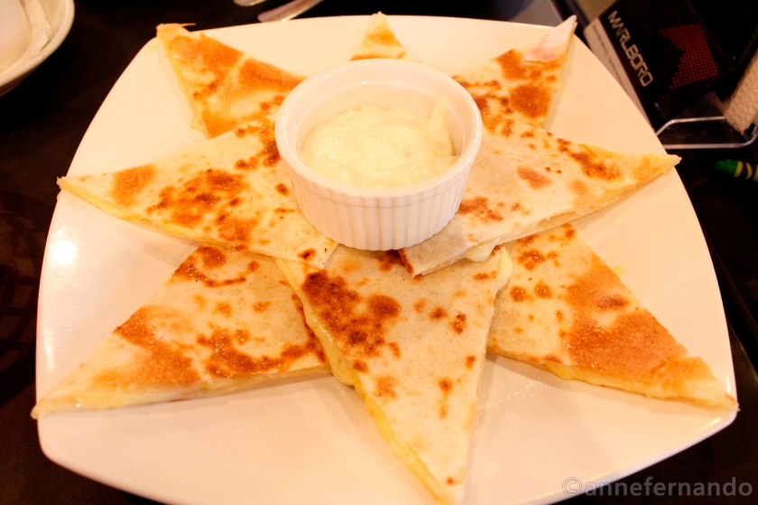 Garlic and Cheese Quesadilla (PhP150)