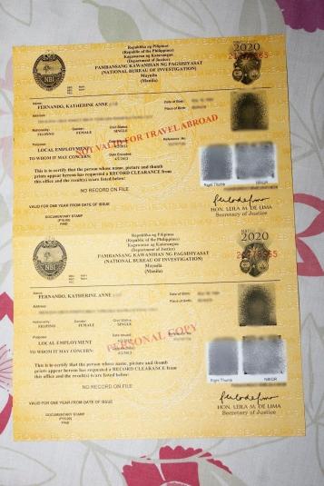 My NBI clearance!!!