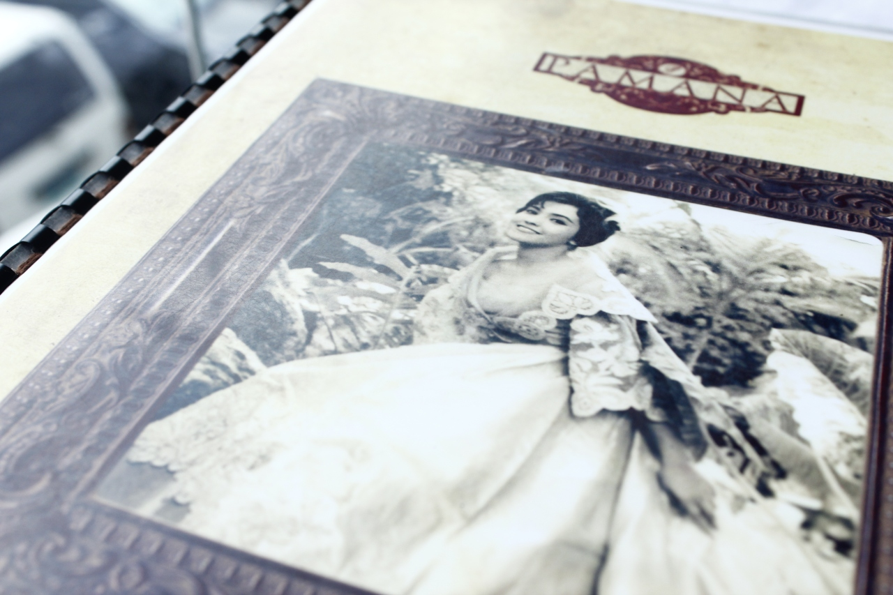 Front cover of Pamana Restaurant's menu