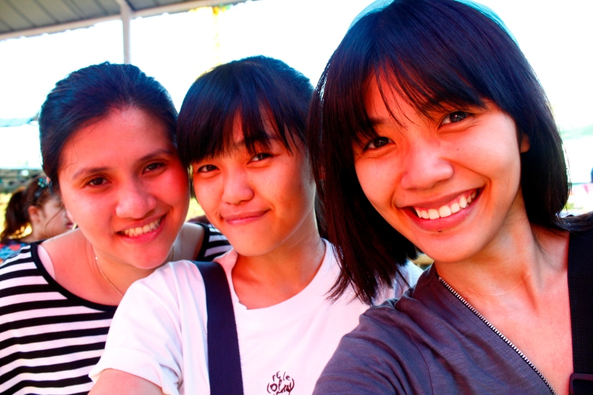 Ate Sandy, Chippy, and me