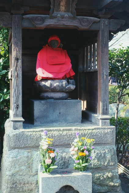 One of the Jizo Bosatsus — protector of children, stillborn babies, and deceased kids